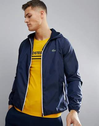 Lacoste Sport Contrast Zip Jacket in Navy