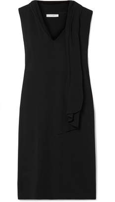 The Row Flynn Silk-trimmed Layered Cady Midi Dress - Black