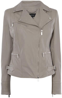 Karen Millen Washed Biker Jacket