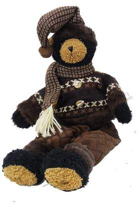 The Holiday Aisle Stuffed Brown Bear in Sweater and Pants