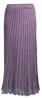 Missoni Operato Metallic Stripe Lame Midi Skirt