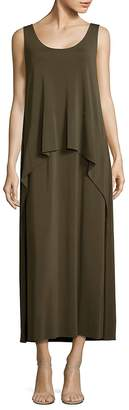 Lafayette 148 New York Women's Madina Layered Crepe Maxi Dress