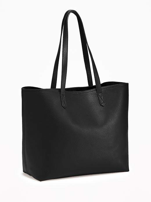 Faux-Leather Tote for Women