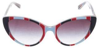 Dolce & Gabbana Printed Cat-Eye Sunglasses