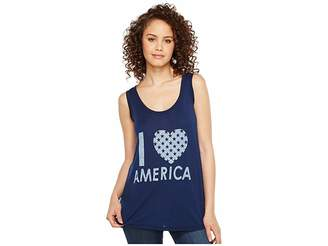 Allen Allen I Heart America Tank Top Women's Sleeveless