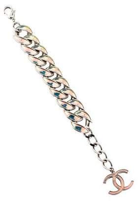 Chanel CC Holographic Curb Link Bracelet