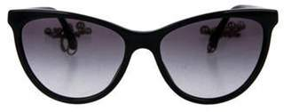 Chanel Cat-Eye Pearl Sunglasses Black Cat-Eye Pearl Sunglasses