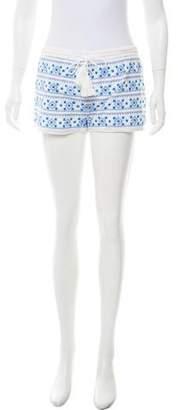 Melissa Odabash Embroidered Mini Shorts