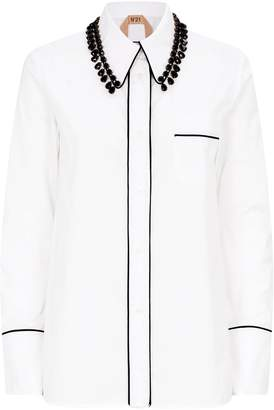 N°21 Crystal-Embellished Cotton Shirt