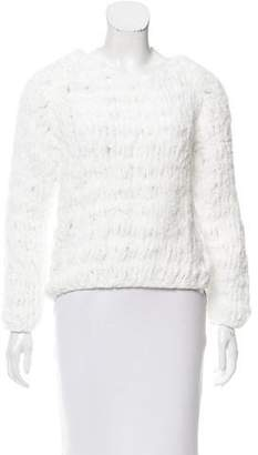 Reed Krakoff Long Sleeve Open Knit Sweater