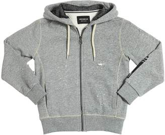 Fred Mello Destroyed Hooded Cotton Sweatshirt