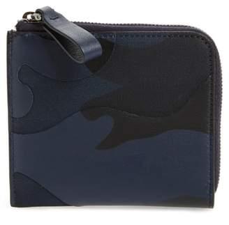 Valentino Camo Zip Wallet