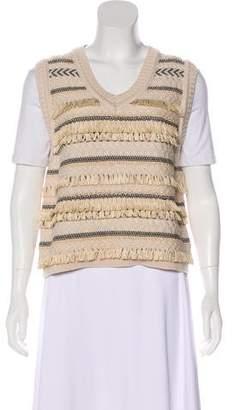 Tory Burch Textured Wool-Blend Vest