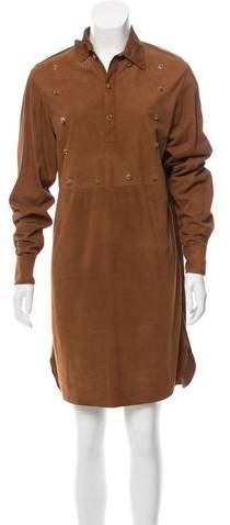 Ralph Lauren Collection Suede Knee-Length Dress