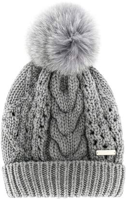 Woolrich cable-knit pom-pom hat