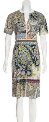 Etro Knee-Length Short Sleeve Dress