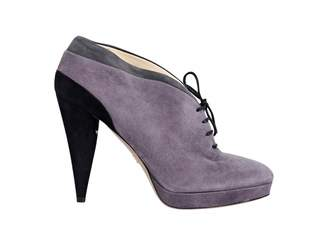 Prada Purple Suede Ankle boots