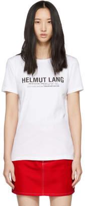 Helmut Lang SSENSE Exclusive White Logo Baby T-Shirt