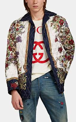 Gucci Men's Floral Silk Twill Jacket - White
