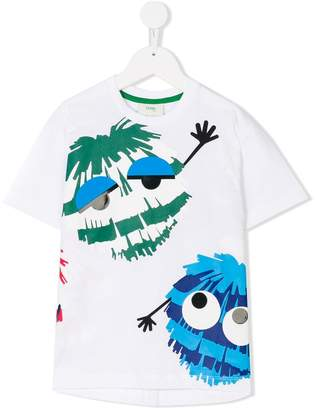 Fendi monsters print T-shirt