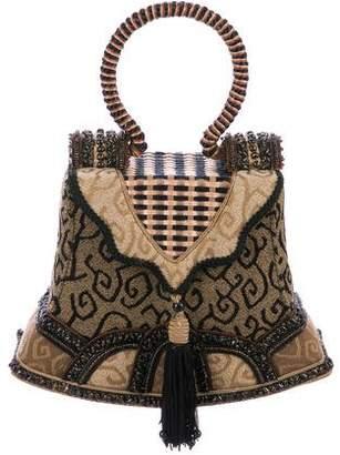 Mary Frances Embellished Handle Bag