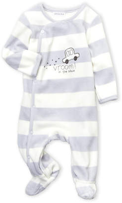 Absorba Newborn Boys) Car Stripe Velour Footie