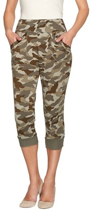 Logo By Lori Goldstein LOGO Lounge by Lori Goldstein French Terry Camo Printed Capri Pants