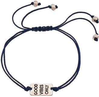 """Lauren Conrad Good Vibes Only"""" Slipknot Bracelet"""