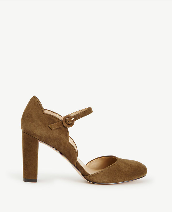 Ann TaylorAlissa Suede Mary Jane Pumps