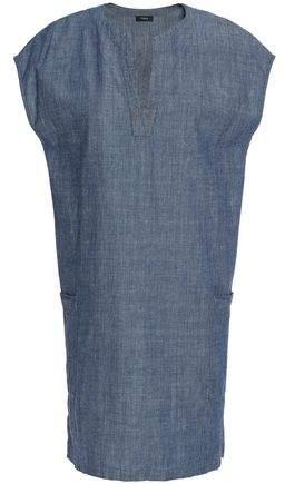 Cotton-Chambray Mini Dress