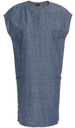 Theory Cotton-Chambray Mini Dress