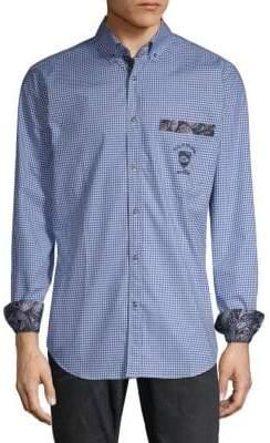 Paul & Shark Checkered Cotton Button-Down Shirt