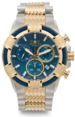 Men's Bolt Chronograph Two Tone Bracelet Watch