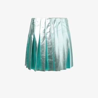 Miu Miu metallic pleated skirt