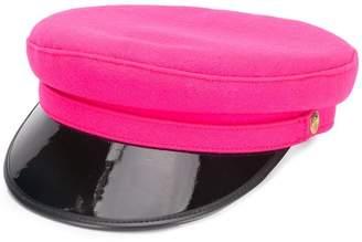 Manokhi two-tone biker hat