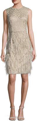 David Meister Embellished Sheath Dress
