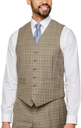 STAFFORD Stafford Plaid Classic Fit Stretch Suit Vest