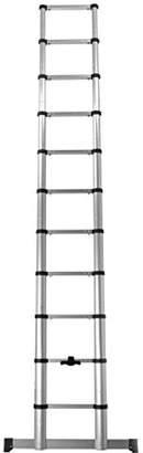 Beldray LA042071 Telescopic Extension Ladder, 3.2 Metre, Silver, 53 x 10.5 x 86.5 cm