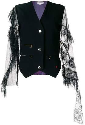 Giacobino lace sleeve waistcoat