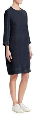 Fabiana Filippi Crushed Velvet Shift Dress
