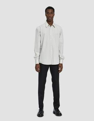 Dries Van Noten Striped Button Up Shirt in Natural
