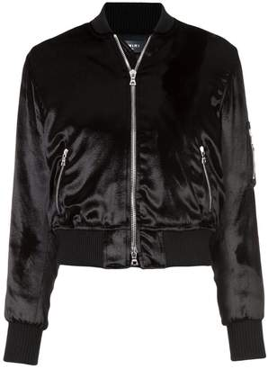 Amiri velvet finish bomber jacket