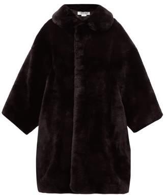 Comme des Garcons Oversized Faux Fur Coat - Womens - Black