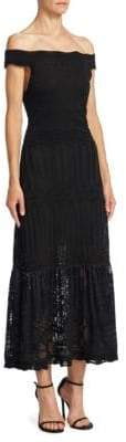 Roberto Cavalli Rib-Knit Off-The-Shoulder Dress