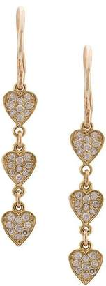 Jennifer Meyer Trio Heart Drop Earrings