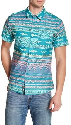 Maui and Sons Shark Tribe Short Sleeve Sort Regular Fit Shirt