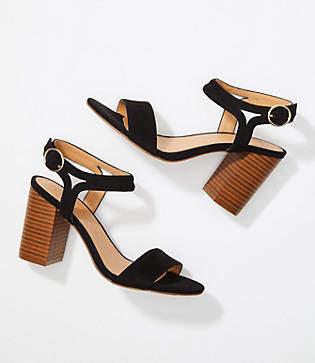 LOFT Ankle Strap Block Heel Sandals