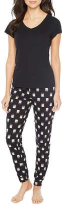 SLEEP CHIC Sleep Chic 2-pack Animal Pant Pajama Set