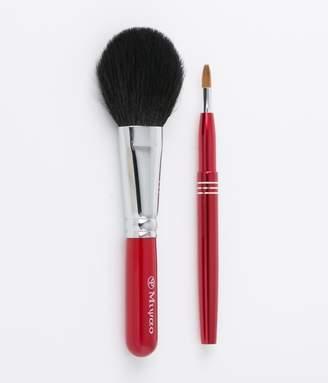 @cosme store online (アットコスメ ストア オンライン) - 高級熊野化粧筆2本セット【チーク・リップブラシ】(レッドパール)
