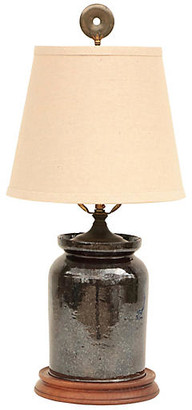 One Kings Lane Vintage Pennsylvania Redware Table Lamp - Pythagoras Place